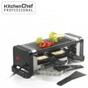 Raclette, pierre, gril Duo, NOIR - Kitchen Chef Professional