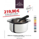 Mutine Amovible. Lot 3 casseroles Offre Blake Friday - Cristel
