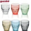 Tiffany. Set de 6 verres bas multicolores 37cL - Guzzini