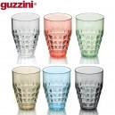 Tiffany. Set de 6 verres haut multicolores 41cL - Guzzini