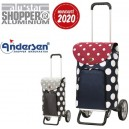Alu Star Shopper Dots. Chariot 2 roues 41L + Poche isotherme - A